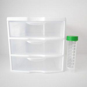 Sterilite Small 3 Drawer Lab Benchtop Storage Unit 20738006