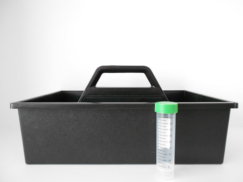 Lab utility carrier 3 compartment