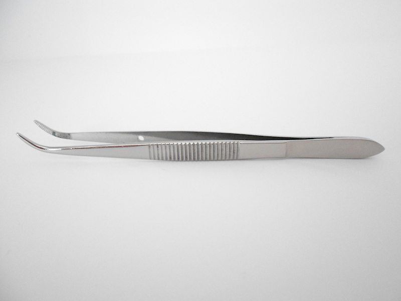 4.5 inch Curved Medium Point Forceps
