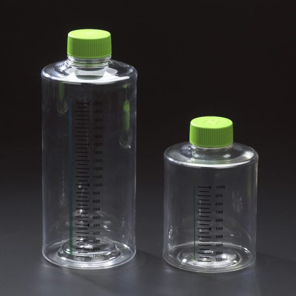 Celltreat 2000 mL untreated plastic roller bottles 229584