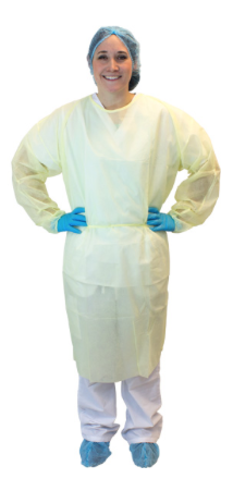 Fluid Resistant Disposable Isolation Gowns DGIH-2X-WH