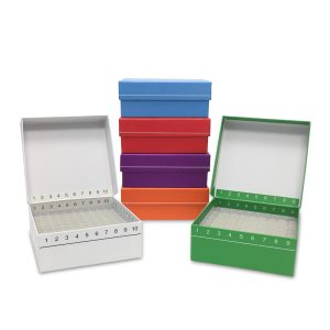 MTC Bio Flip Top Cardboard Freezer Boxes 100 place Assorted R2700-A